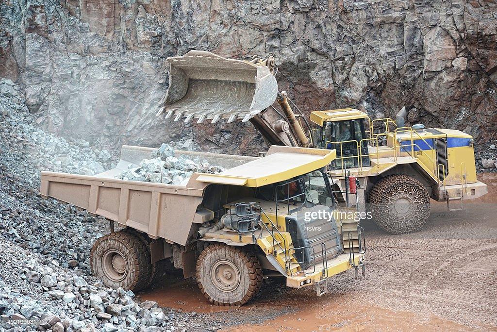 earth mover loading dumper truck surface mine
