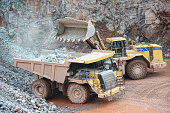 earth mover loading dumper truck surface mine