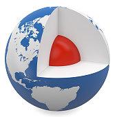 earth's core - 3d model