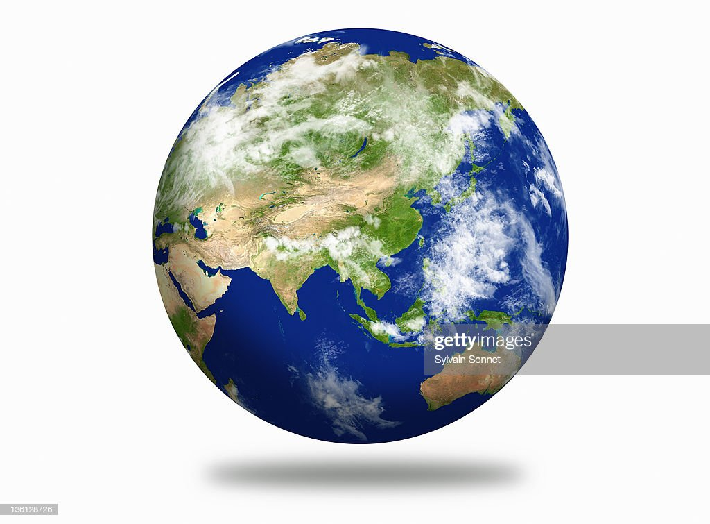 Earth Planet, Asia View : Stock Photo