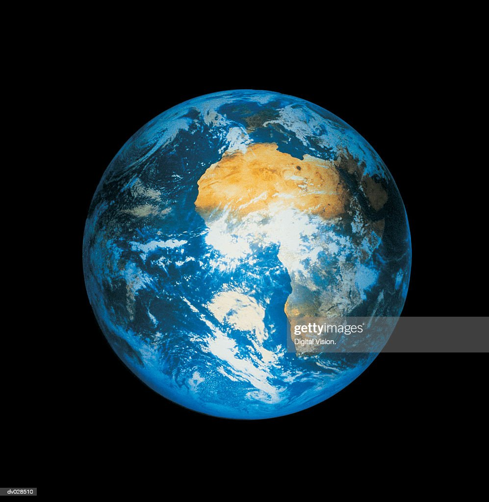 Earth showing Africa : Stock Photo
