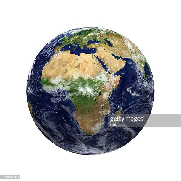 Vue de la terre-Afrique