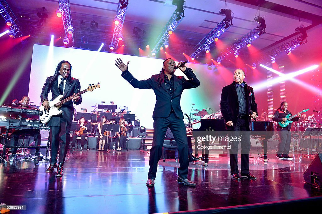 Earth, Wind and Fire perform at the David Foster Foundation Benefit Concert at Allstream Centre on December 5, 2013 in Toronto, Canada.