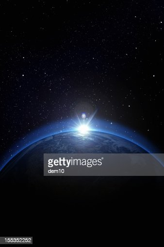 Earth with stars