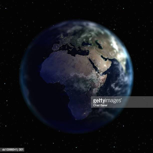 Earth with view of Africa, view from space