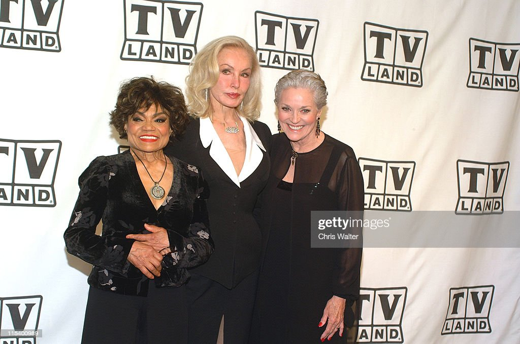 Eartha Kitt, Julie Newmar and Lee Meriwether (all 3 played Catwoman on the 1960s 'Batman' TV show), presenters of Viewer's Choice Award for Favorite Fashion Plate, Female