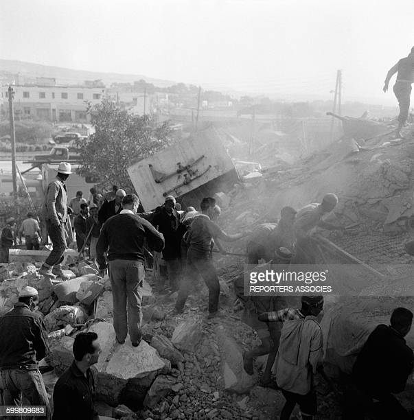 Earthquake Aftermath in Agadir Morocco in March 1960