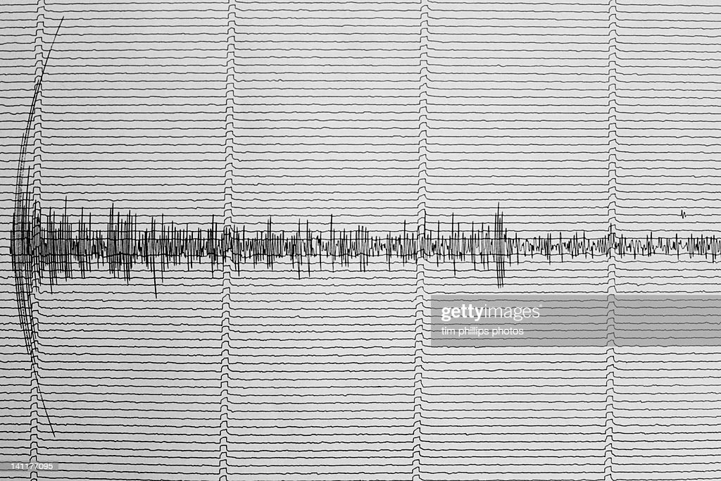 Earthquake Australia Seismograph : Stock Photo