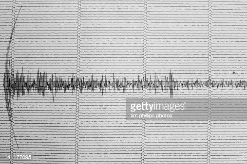 Earthquake Australia Seismograph : Stock Photo