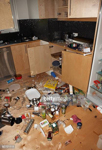 Earthquake damage  in Kitchen