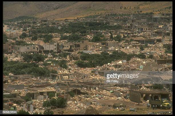 Earthquake devastated town in Gilan province