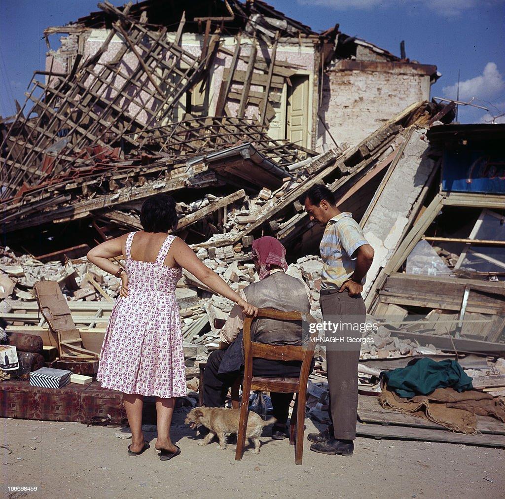 Earthquake in skopje yugoslavia skopje juillet 1963 for Assis sur une chaise