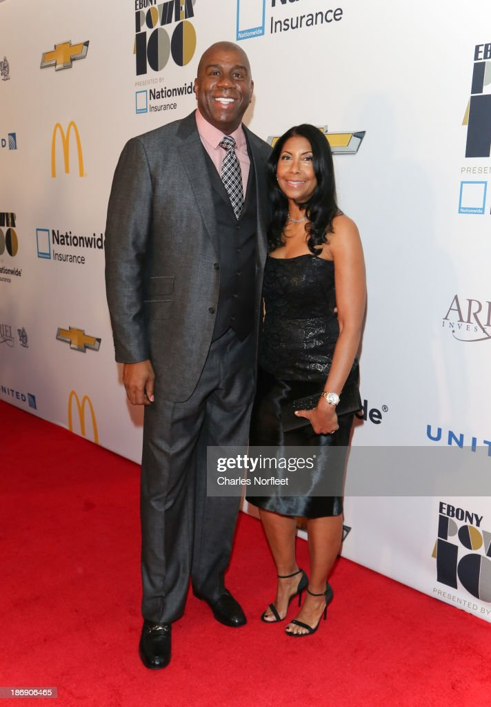 Earvin 'Magic' Johnson and <a gi-track='captionPersonalityLinkClicked' href=/galleries/search?phrase=Cookie+Johnson&family=editorial&specificpeople=846852 ng-click='$event.stopPropagation()'>Cookie Johnson</a> attend the 2013 EBONY Power 100 List Gala at Frederick P. Rose Hall, Jazz at Lincoln Center on November 4, 2013 in New York City.