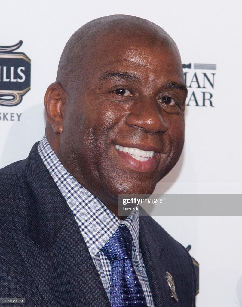 """earvin magic johnson When earvin """"magic"""" johnson boarded the los angeles lakers' team plane to philadelphia, he decided to make a bold move and take kareem abdul-jabbar's seat in the first row."""