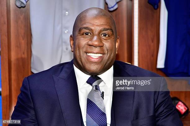 Earvin 'Magic' Johnson attends the launch of SportsNet LA on February 25 2014 in El Segundo California