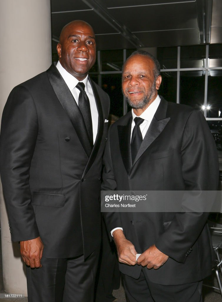 Earvin 'Magic' Johnson Jr. and William C. Rhoden attend 2013 Multicultural Gala: An Evening Of Many Cultures at Metropolitan Museum of Art on September 23, 2013 in New York City.
