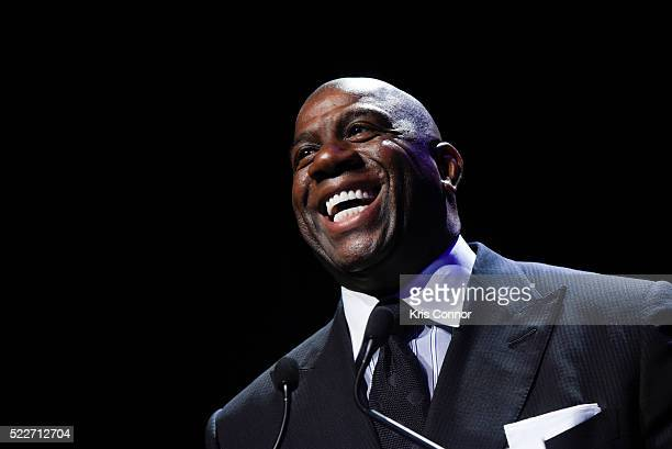 Earvin 'Magic' Johnson Jr attends the America's Promise Alliance's Promise Night Gala 2016 where he received an award at Howard Theatre on April 20...