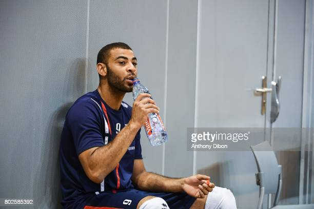 Earvin Ngapeth of France during a training session of the French volleyball national team on June 28 2017 in Vincennes France