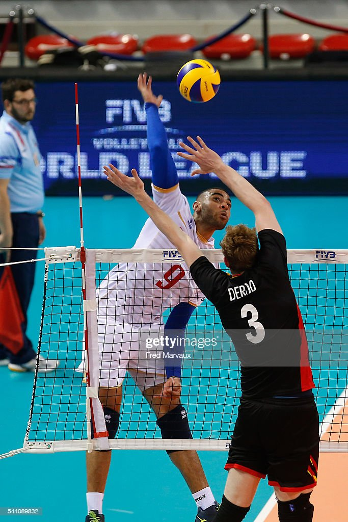 Earvin Ngapeth of France during FIVB World League 2016 between France and Belgium on July 1, 2016 in Nancy, France.
