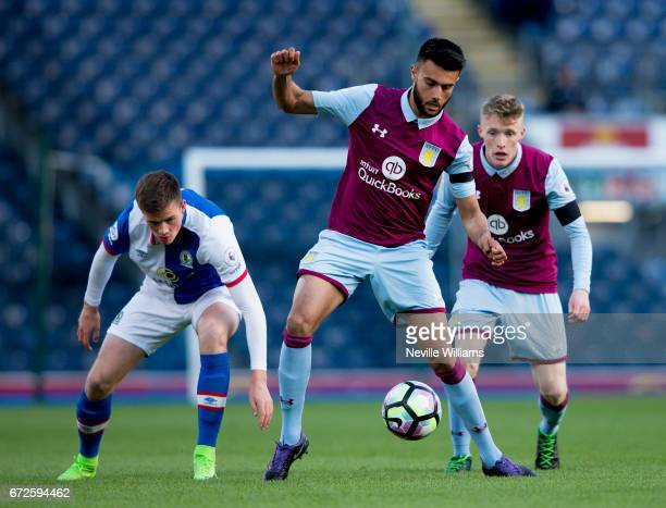 Easah Suliman of Aston Villa during the Premier League 2 match between Blackburn Rovers and Aston Villa at the Ewood Park on April 24 2017 in...