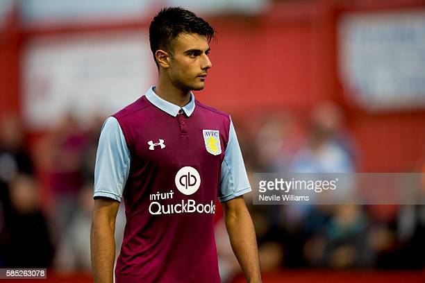 Easah Suliman of Aston Villa during the PreSeason Friendly match between Tamworth and Aston Villa at the Lamb on August 02 2016 in Tamworth England