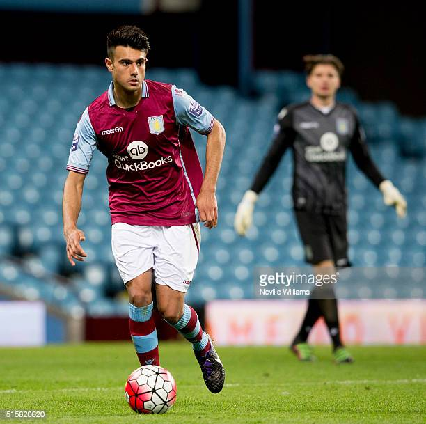 Easah Suliman of Aston Villa during the U21 Premier League match between Aston Villa and Arsenal at Villa Park on March 14 2016 in Birmingham England
