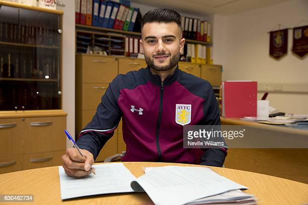 Easah Suliman of Aston Villa poses for a picture at the club's training ground at Bodymoor Heath on December 23 2016 in Birmingham England