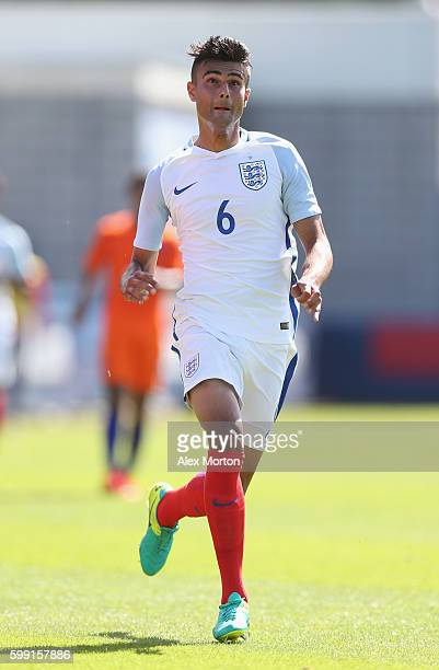 Easah Suliman of England during the international friendly match between England U19 and Netherlands U19 on September 1 2016 in Telford United Kingdom