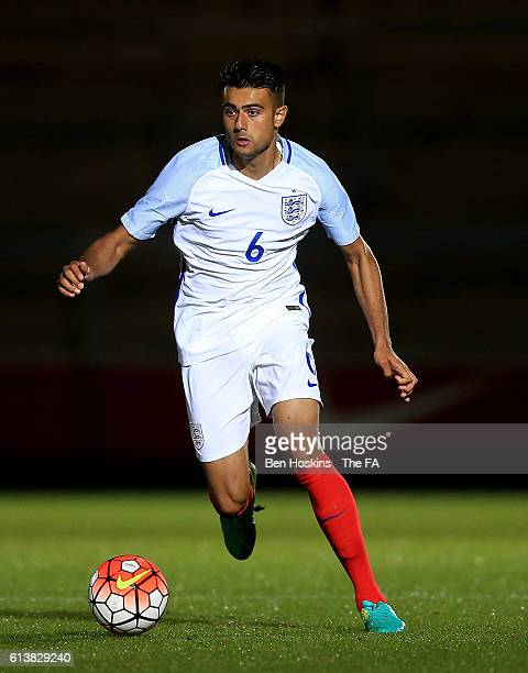 Easah Suliman of England in action during the U19 International Match between England and Bulgaria at Adams Park on October 10 2016 in High Wycombe...