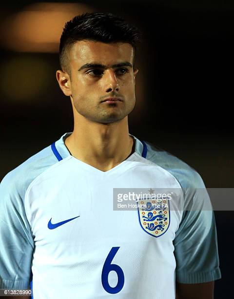 Easah Suliman of England looks on ahead of the U19 International Match between England and Bulgaria at Adams Park on October 10 2016 in High Wycombe...
