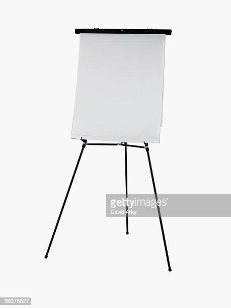 Easel and paper