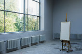Easel in studio