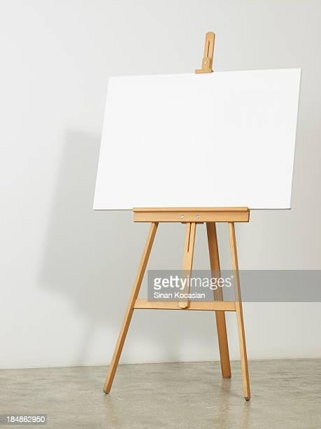 Chevalet de peintre horizontales en toile