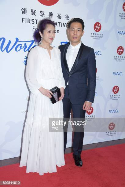Eason Chan Renee Fleming Youlun Wang Real Ting Miriam Yeung Connie Chan Hilary Tsui Kenny Bee and Mandy Mei etc attended a charity fund's evening...