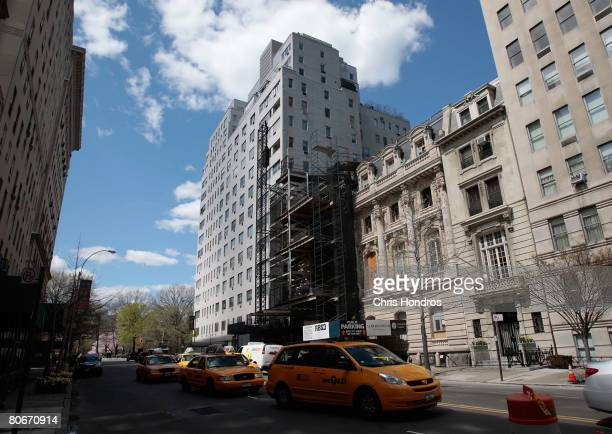 East 72nd Street between Fifth Avenue and Madison Avenue is seen April 14 2008 in the Upper East Side of New York Pope Benedict is scheduled to stay...