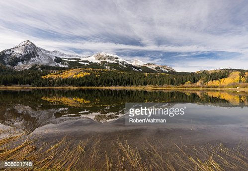 East Beckwith Mountain  and Lost Lake Slough : Stock Photo