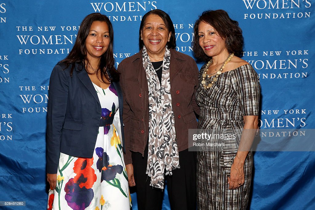 East Coast Diversity Director of Sidley Austin LLP Rosevelie Marquez Morales, WCECA Executive Director Merble Reagon and Taina Bien Aime attend The New York Women's Foundation's 2016 celebration womens breakfast on May 5, 2016 in New York City.