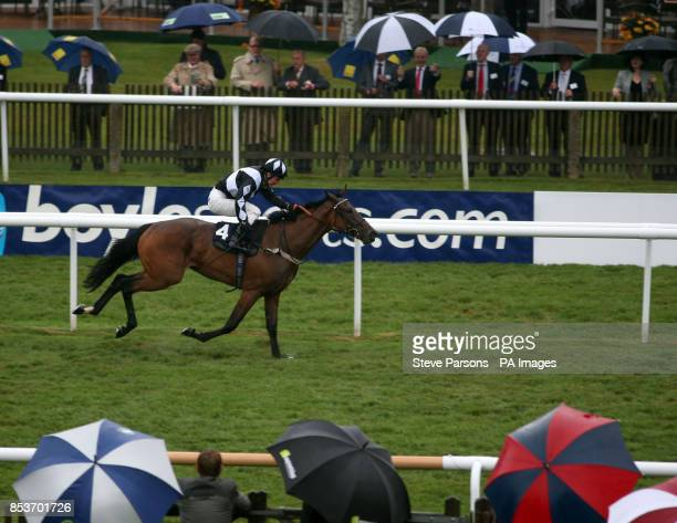 East Coast Lady ridden by Frederik Tylicki wins the Peter Silvester Memorial EBF stallions maiden Fillies stakes during the Boylesports Ladies Day of...