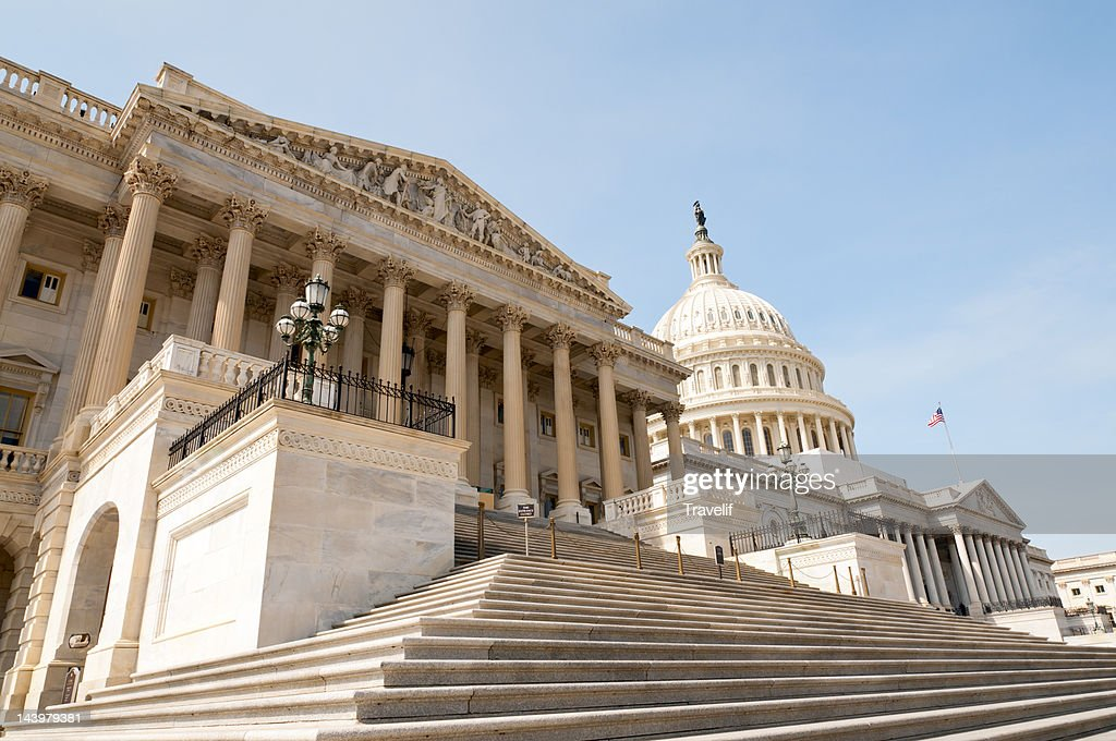 East front of the US Capitol building : Stock Photo
