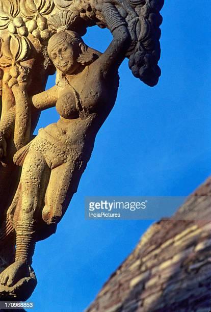 East gate of stupa Sanchi Madhya Pradesh India