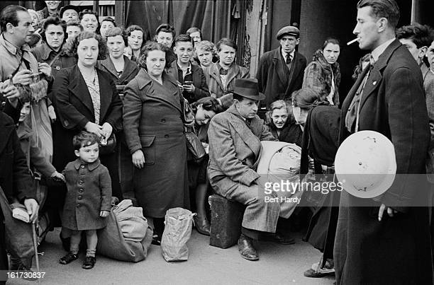 East Londoners made homeless by German bombing raids in the first month of the Blitz September 1940 Original publication Picture Post 297 East End At...