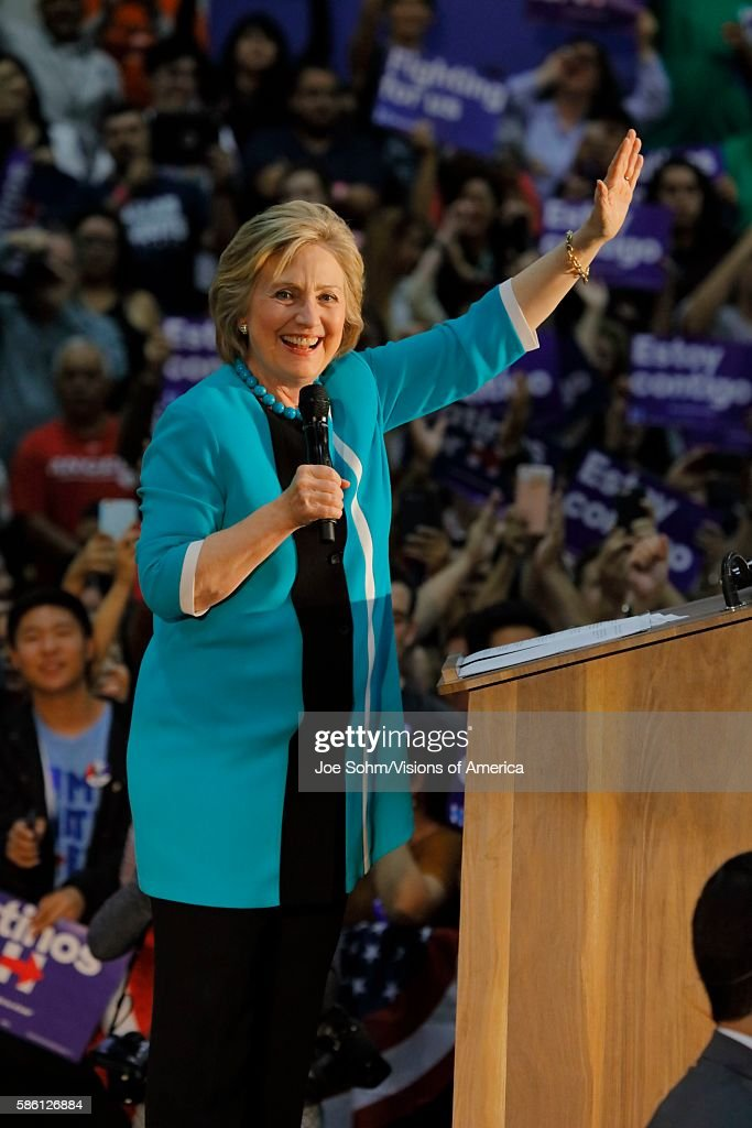East Los Angeles College Monterey Park CA Cinco de Mayo Secretary State Hillary Clinton Addresses Mostly Latino Presidential Rally