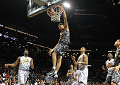 East player Kelly Oubre dunks during game action of the 2014 Jordan Brand Classic All American game at the Barclays Center