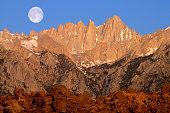 East side of Mt. Whitney in the morning light, Sierra Nevada, California, United States