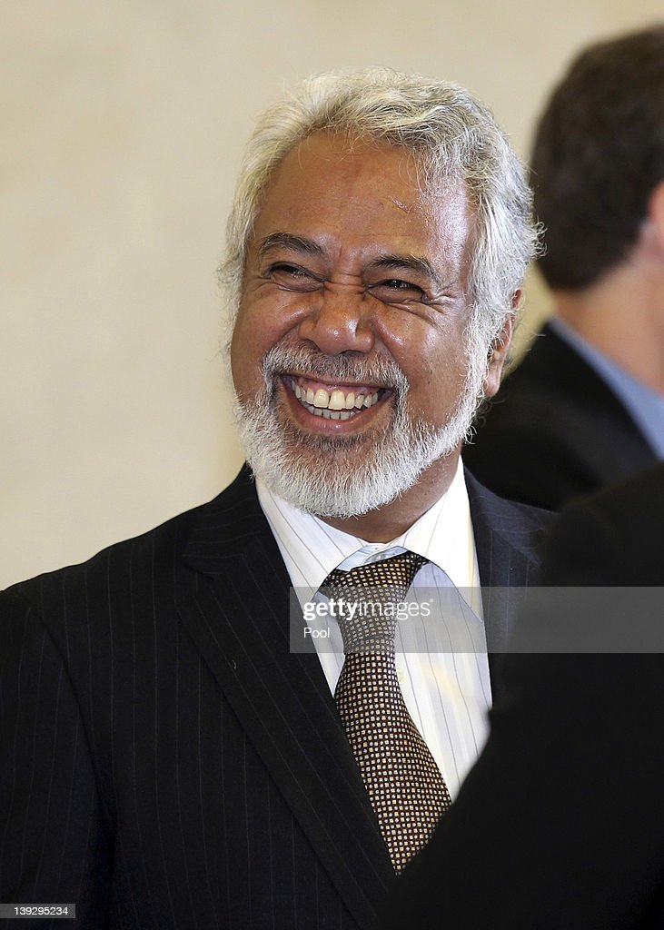 East Timorese Prime Minister <a gi-track='captionPersonalityLinkClicked' href=/galleries/search?phrase=Xanana+Gusmao&family=editorial&specificpeople=223915 ng-click='$event.stopPropagation()'>Xanana Gusmao</a> during a visit to the Anzac War Memorial on February 19, 2012 in Sydney, Australia. Mr Gusmao will visit Canberra, Sydney, Darwin, and Melbourne during his six day visit to Australia.