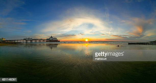Eastbourne pier at Sunrise, East Sussex, England, UK