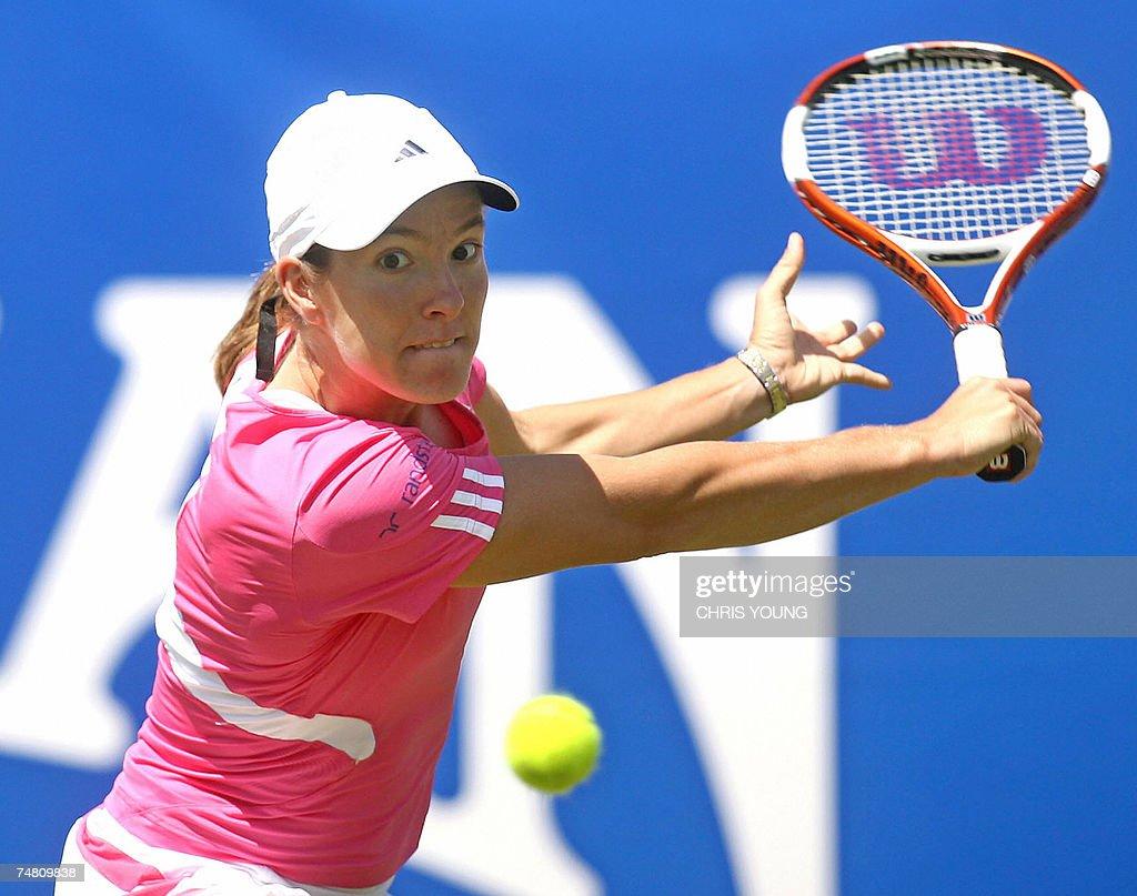 Belgian tennis player Justine Henin in a