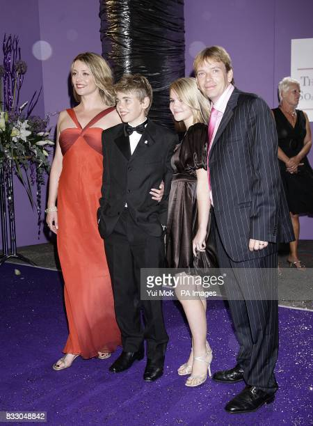EastEnders actress Laurie Brett Thomas Law Melissa Suffield and Adam Woodyatt arrives for the British Soap Awards at the BBC Television Centre in...