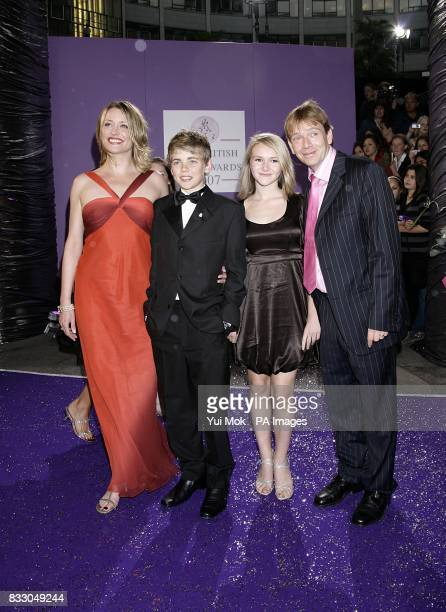 EastEnders actress Laurie Brett Thomas Law Melissa Suffield and Adam Woodyatt arrive for the British Soap Awards at the BBC Television Centre in...