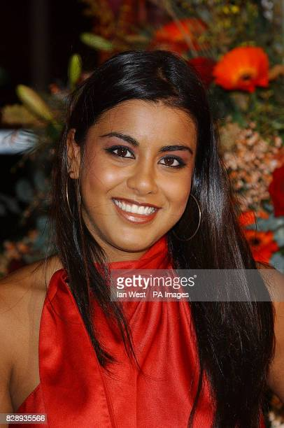 Eastenders actress Pooja Shah arrives for the 2003 TV Moments Awards held at the BBC Television Centre London